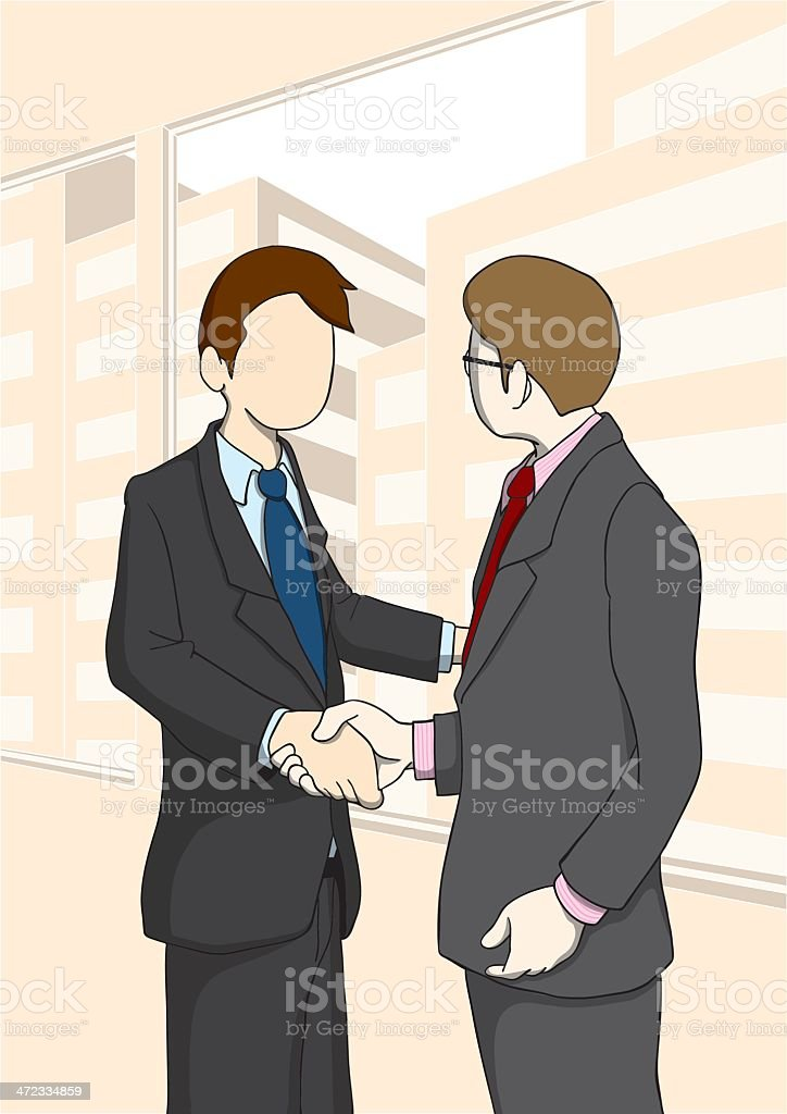 businessman_ShakeHands royalty-free stock vector art