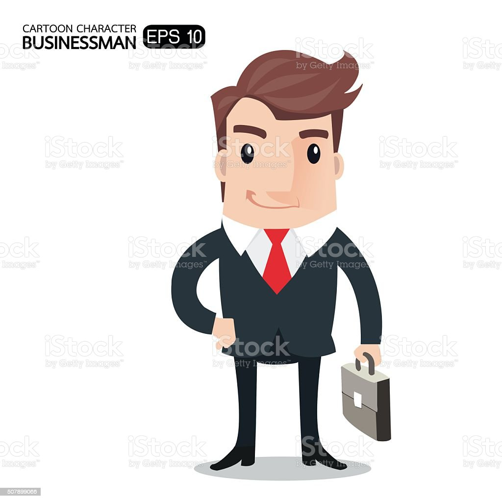 businessman-new vector art illustration