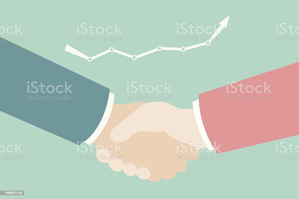 businessman's hand shaking royalty-free stock vector art