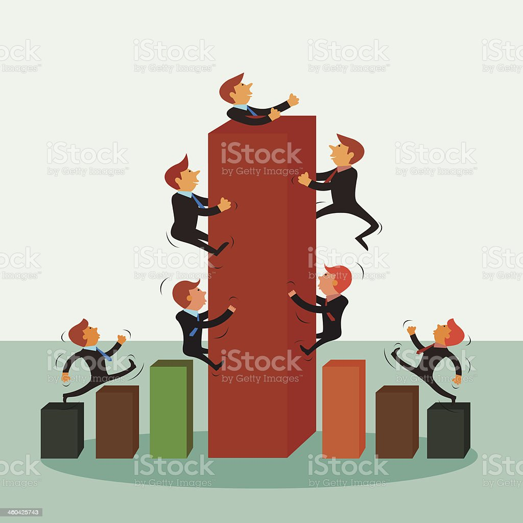 Businessmen Abstract Bars royalty-free stock vector art