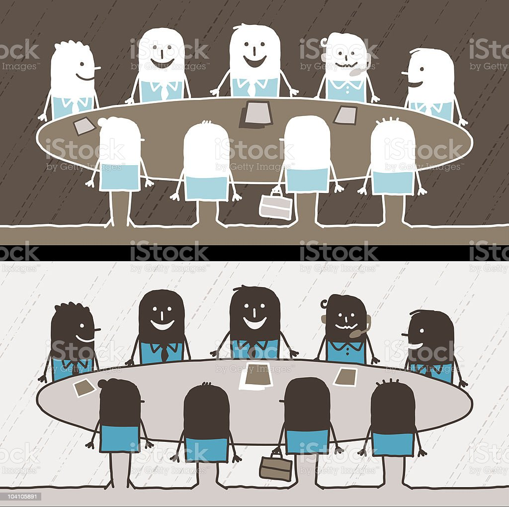 businessmen & meeting royalty-free stock vector art