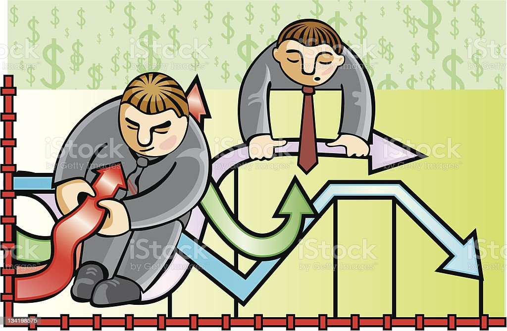 Businessmen and the schedule royalty-free stock vector art
