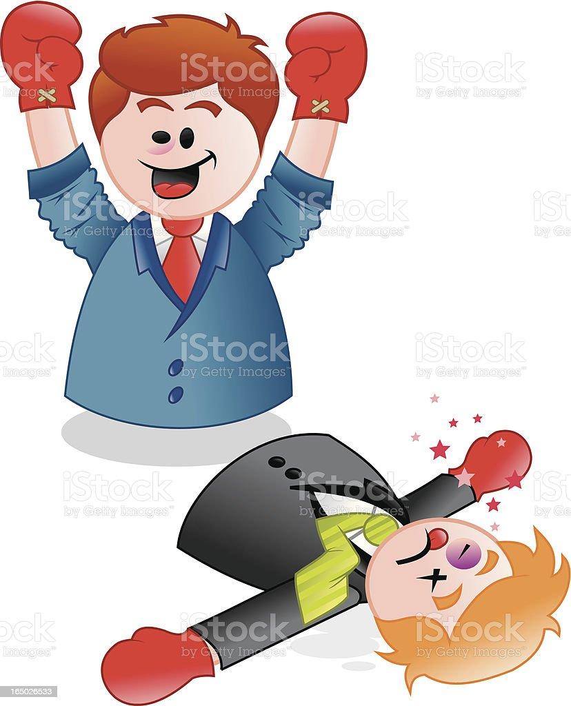 Hombres luchando-orificio de ventas - ilustración de arte vectorial