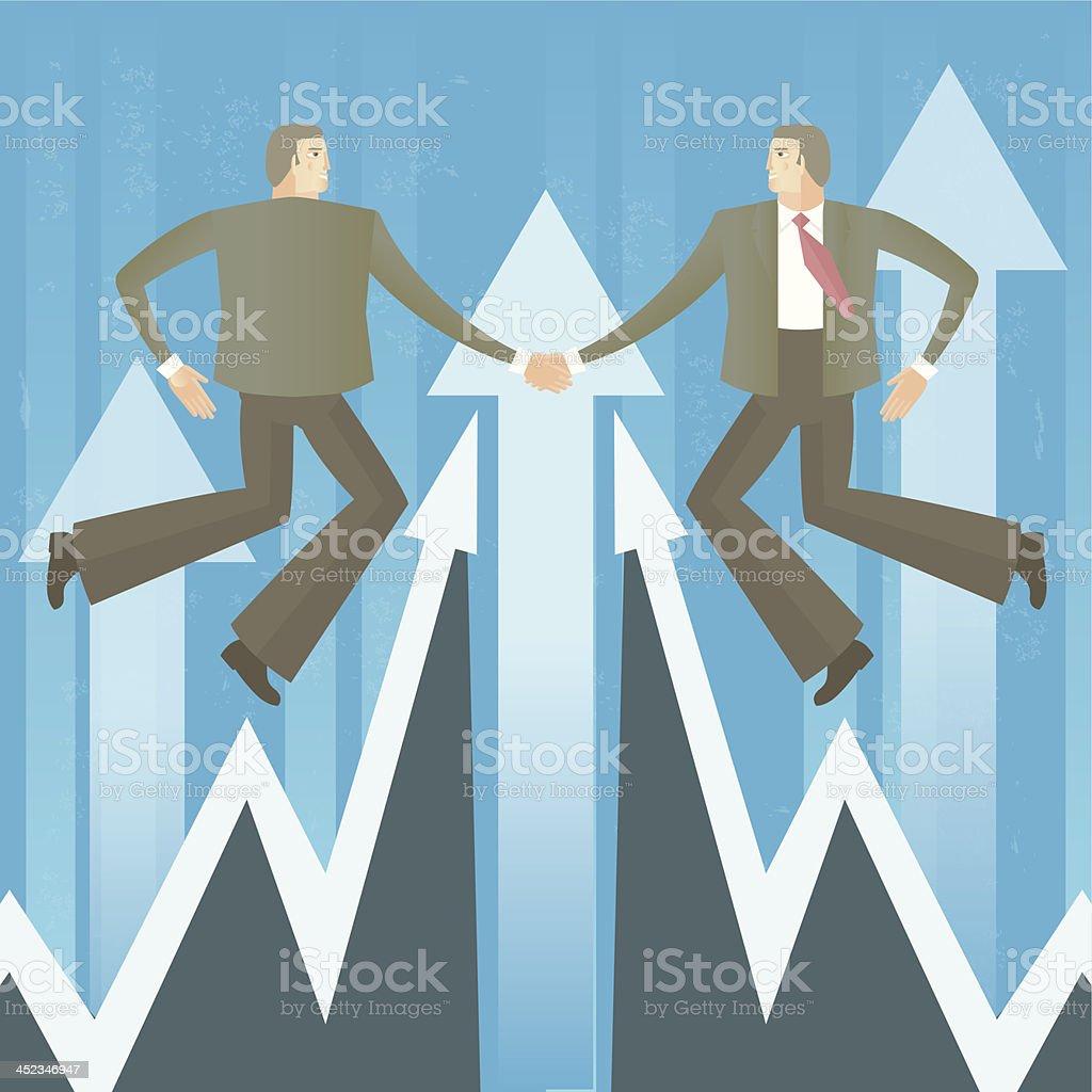 Businessmen handshake vector art illustration