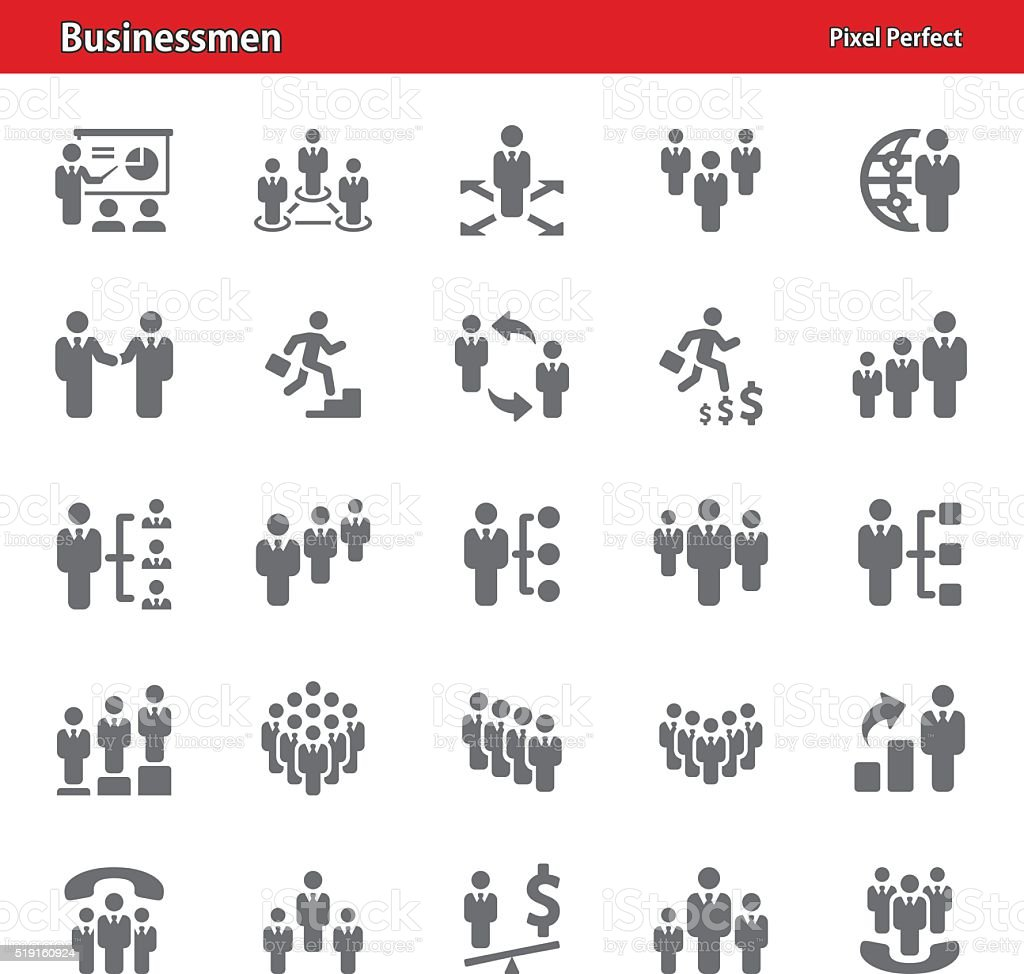 Businessmen Icons - Set 2 vector art illustration