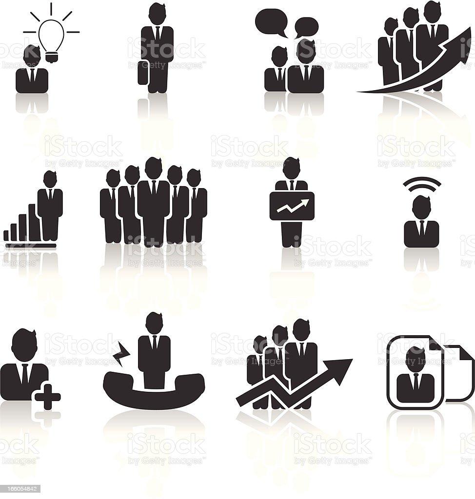 Businessmen icons vector art illustration