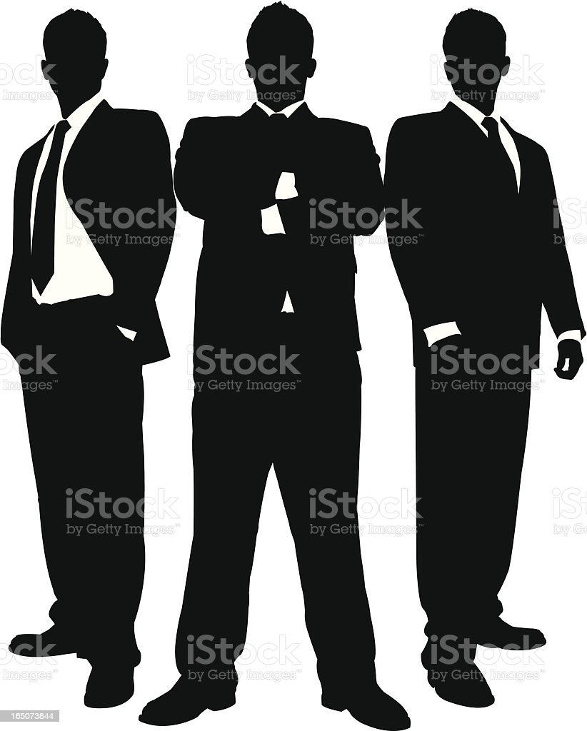 Businessmen in Black Series vector art illustration