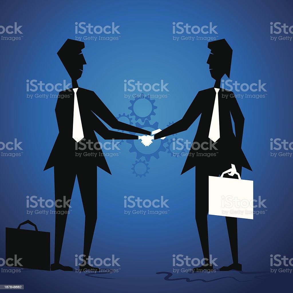 businessmen meeting vector art illustration