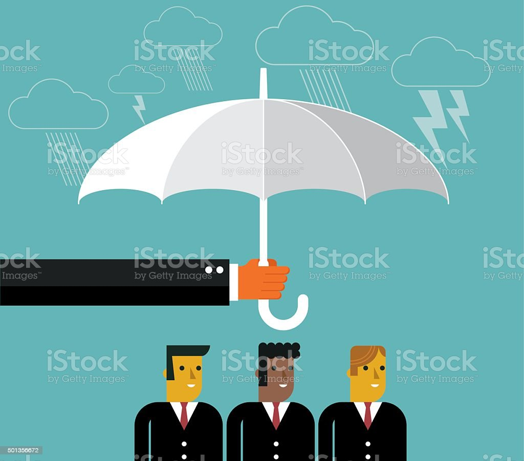 Businessmen Protection vector art illustration