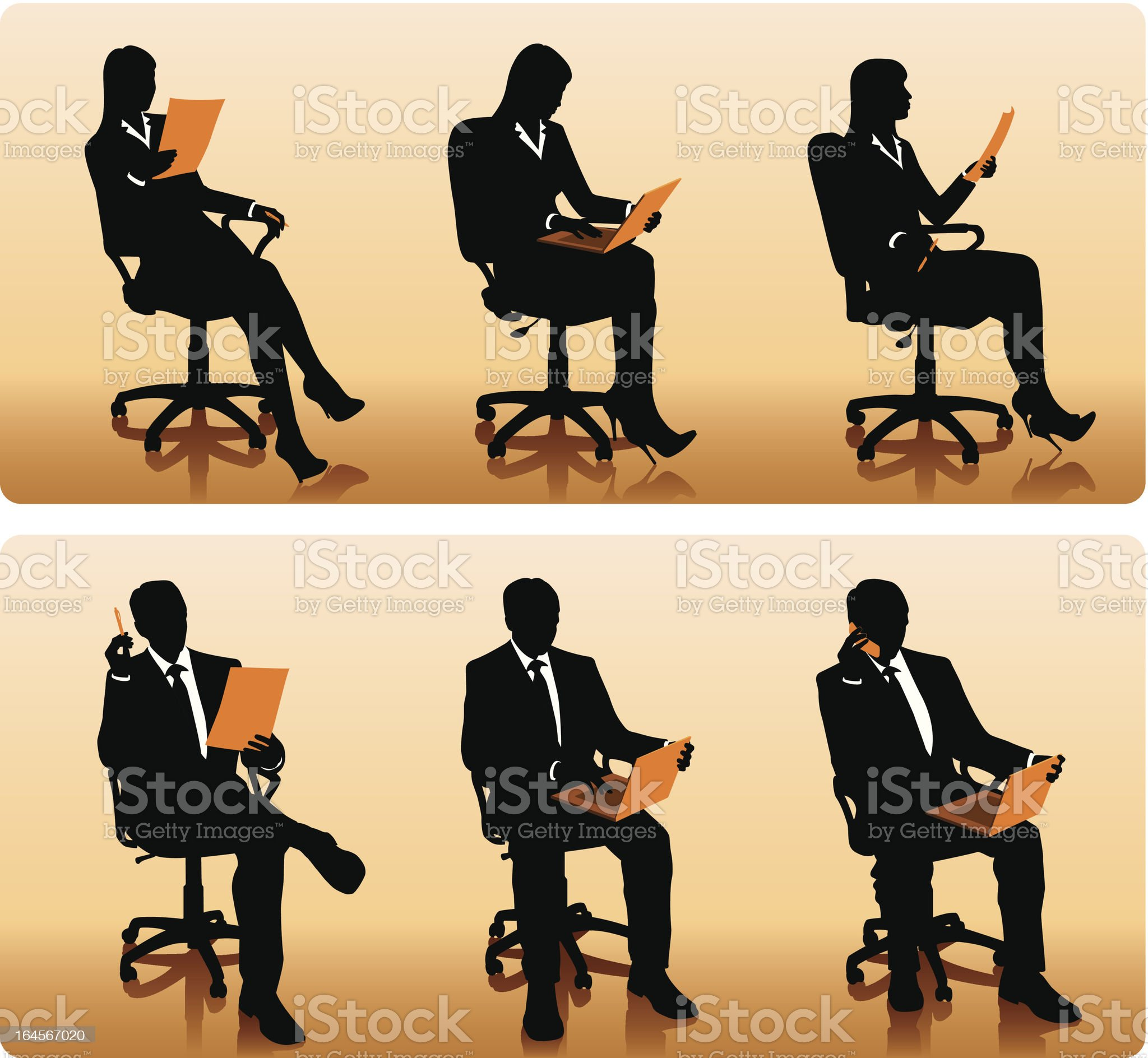 Businessmen silhouettes royalty-free stock vector art
