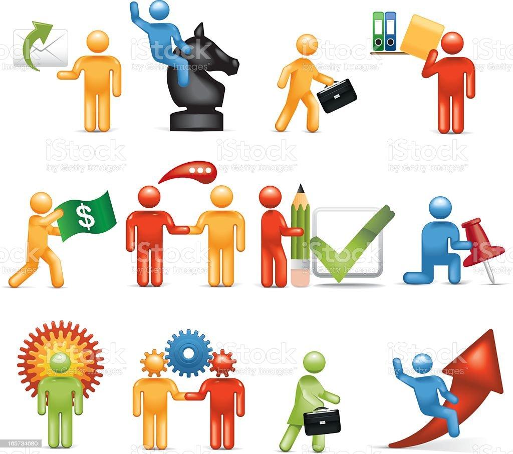 Businessmen: Stickman 2.0 vector art illustration