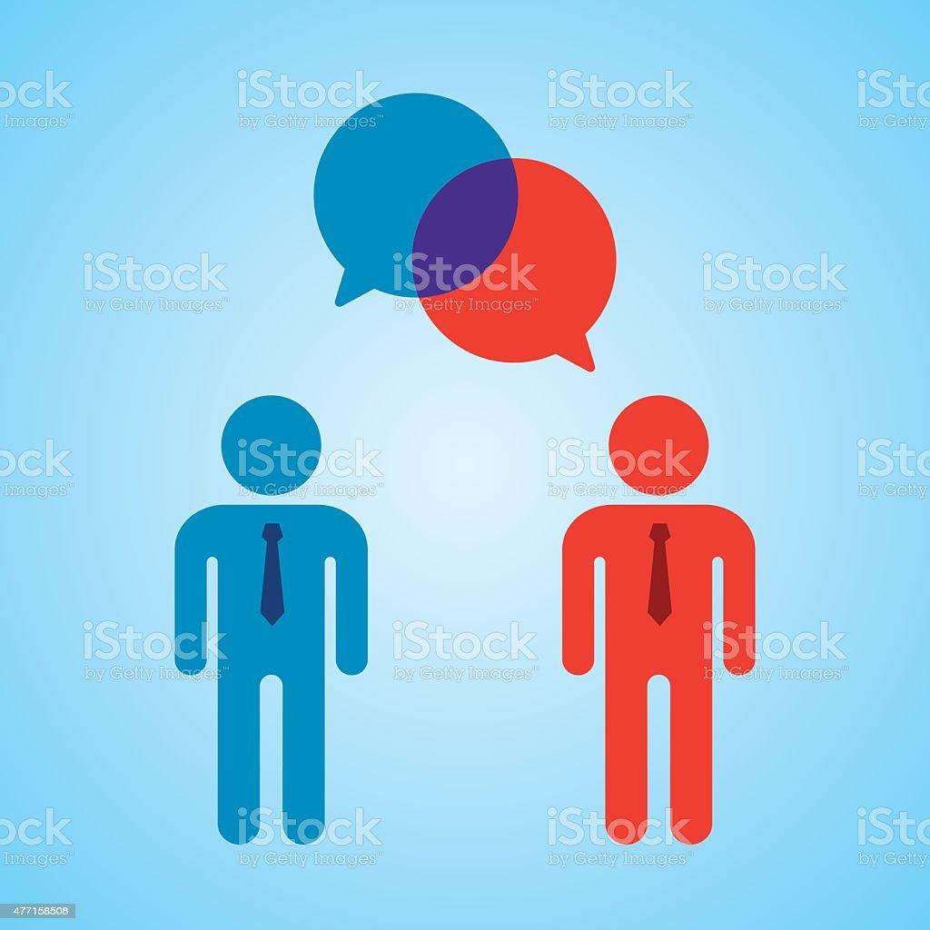 Businessmen Talking vector art illustration