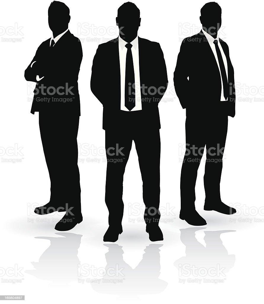 Businessmen Trio vector art illustration