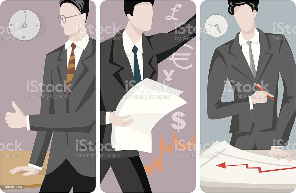 Businessmen Vector Illustrations Series royalty-free stock vector art
