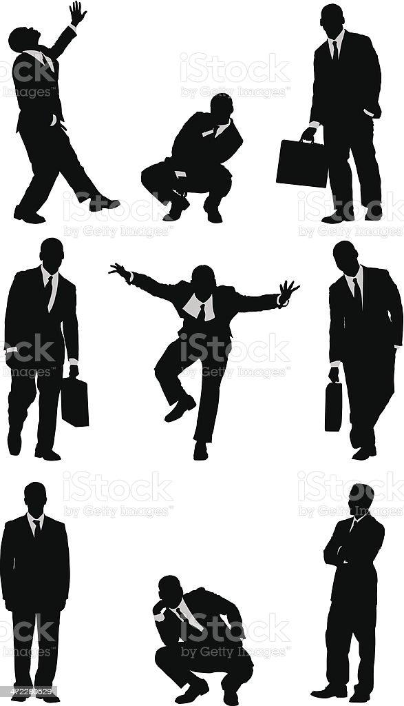 Businessmen vectors vector art illustration