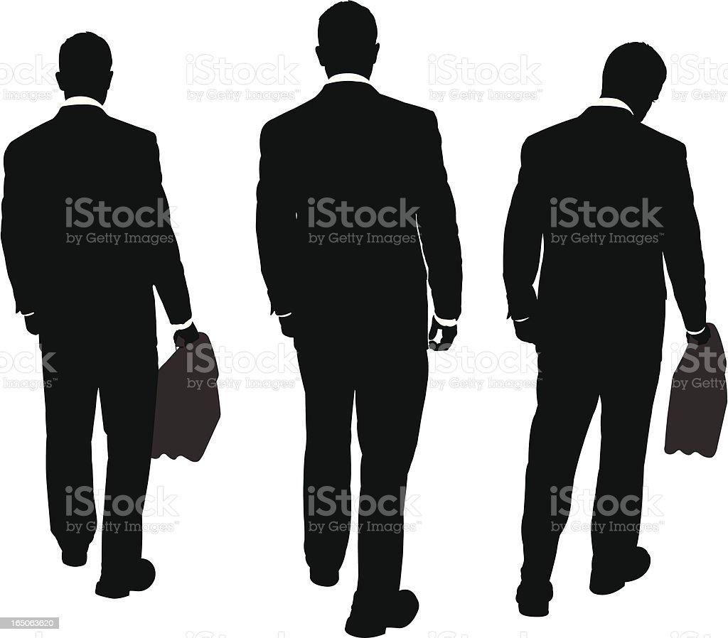 Businessmen Walking Away Series vector art illustration