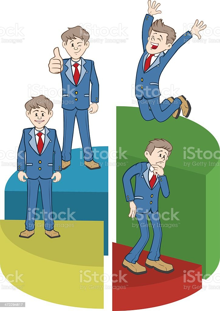 Businessmen with Pie Chart royalty-free stock vector art