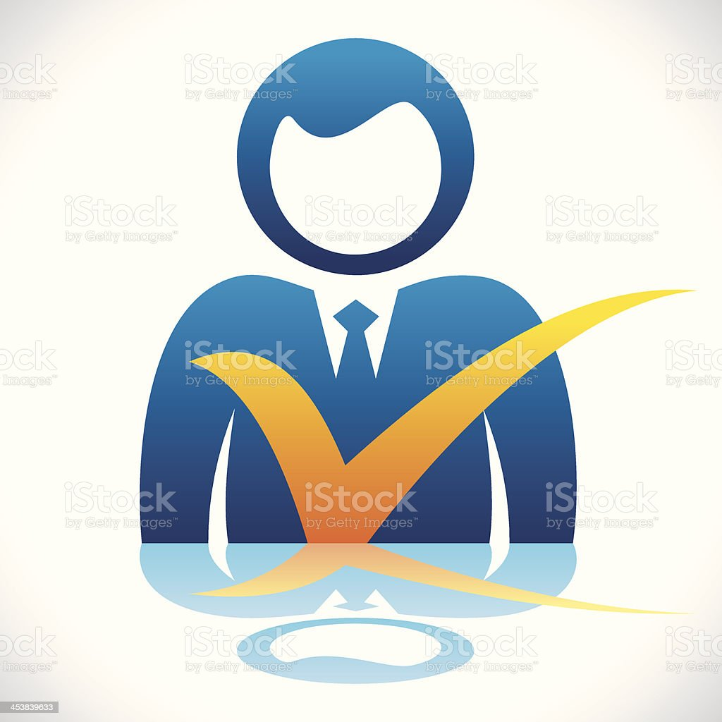 businessmen with right symbol royalty-free stock vector art