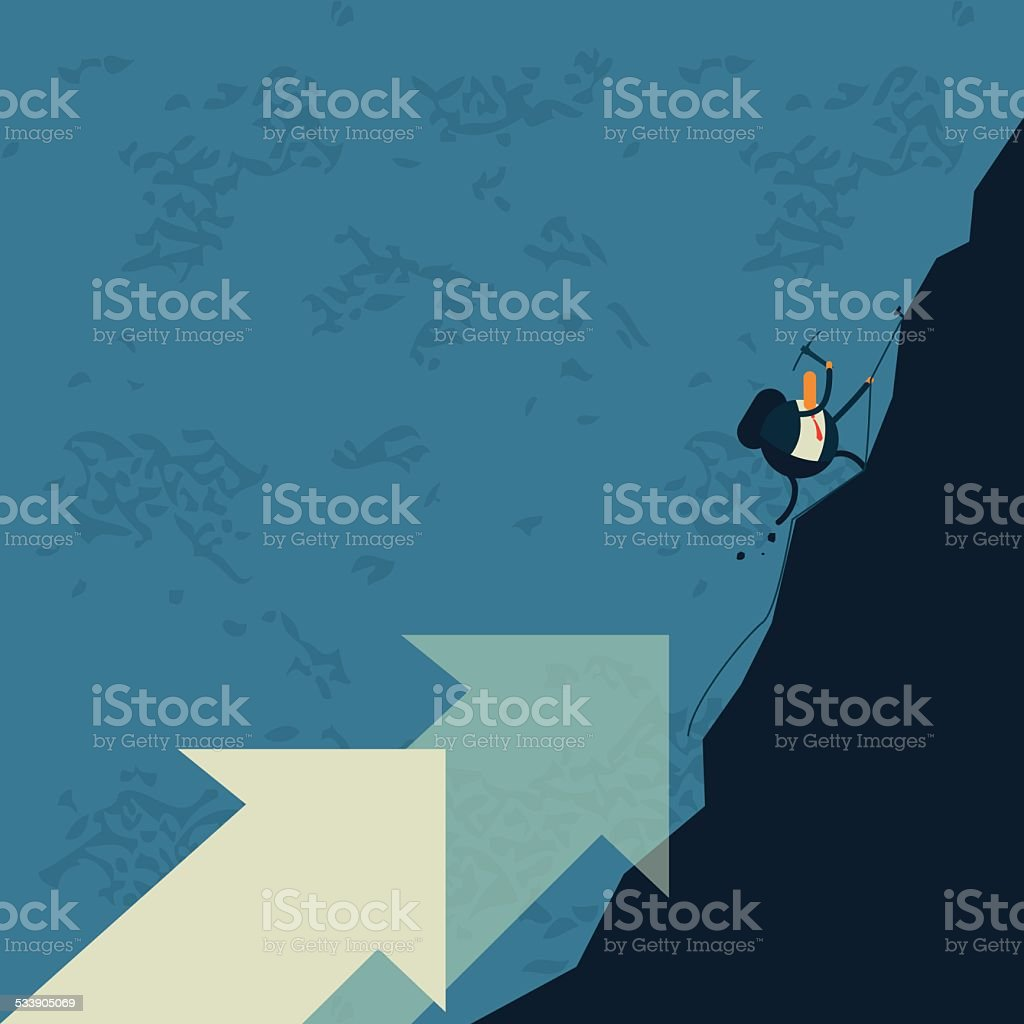 Business,Mountain climbing, climbing, rose vector art illustration