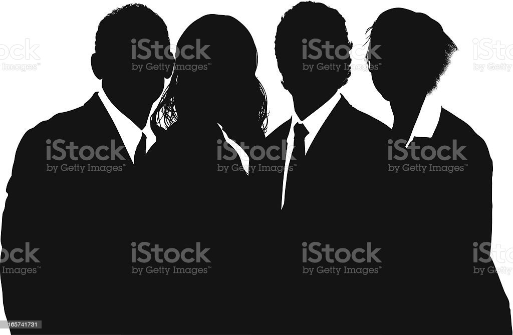 Businesspeople silhouette royalty-free stock vector art