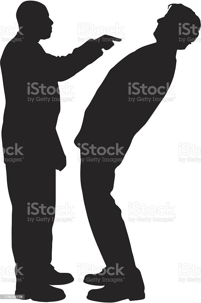 Businessperson Silhouette vector art illustration