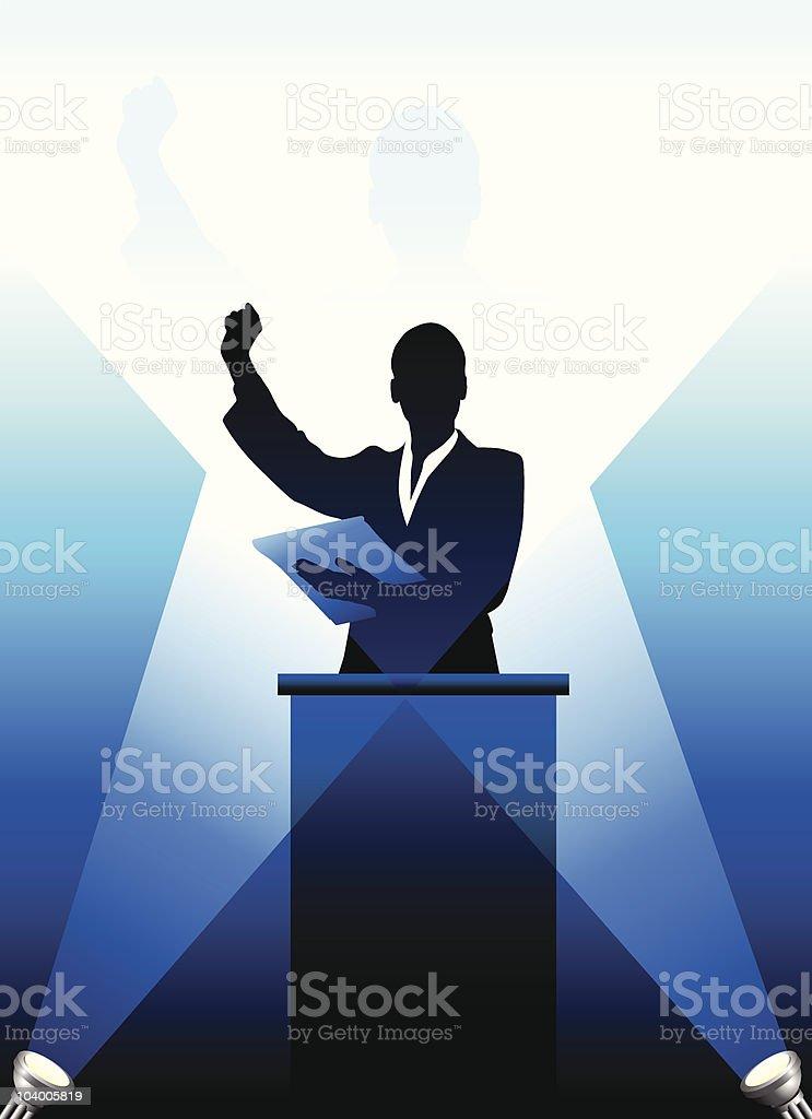 Business/political speaker silhouette royalty-free stock vector art