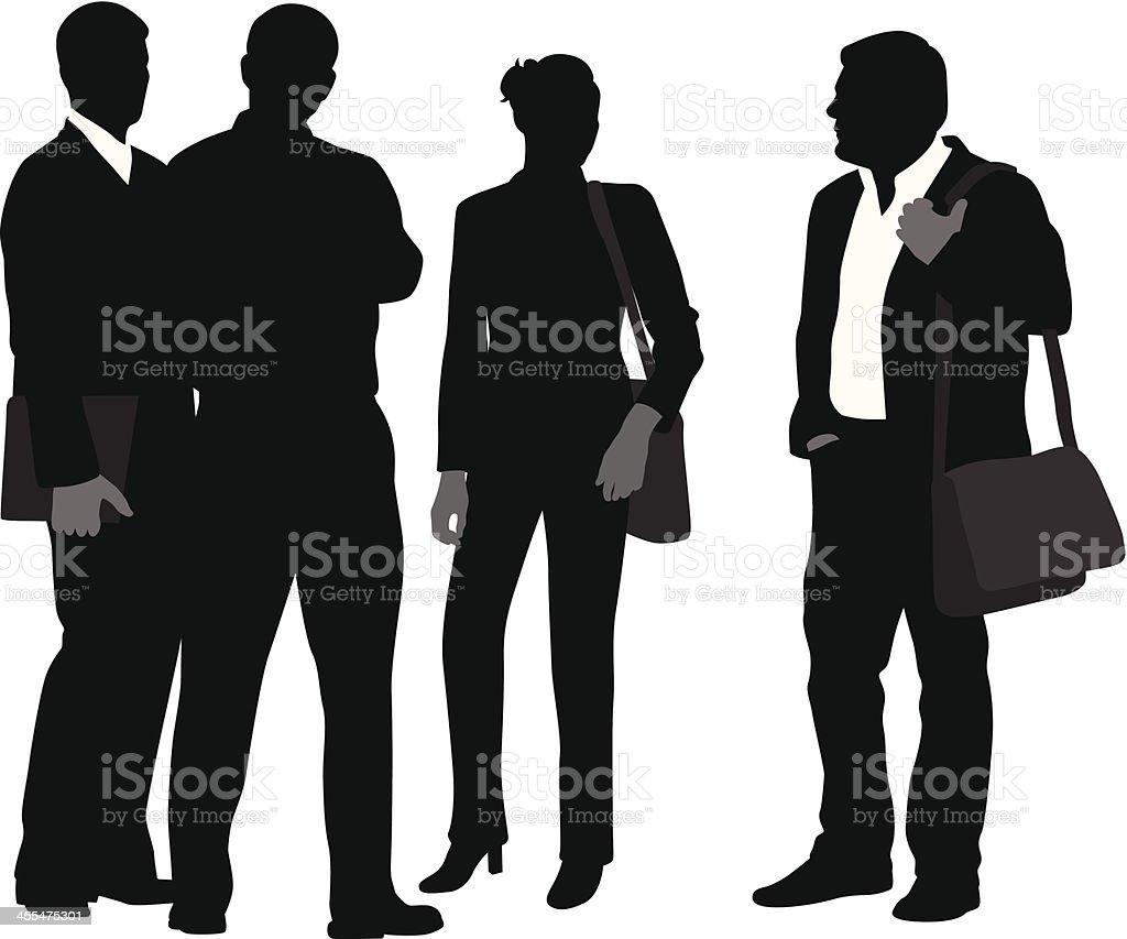 BusinessTalkers vector art illustration