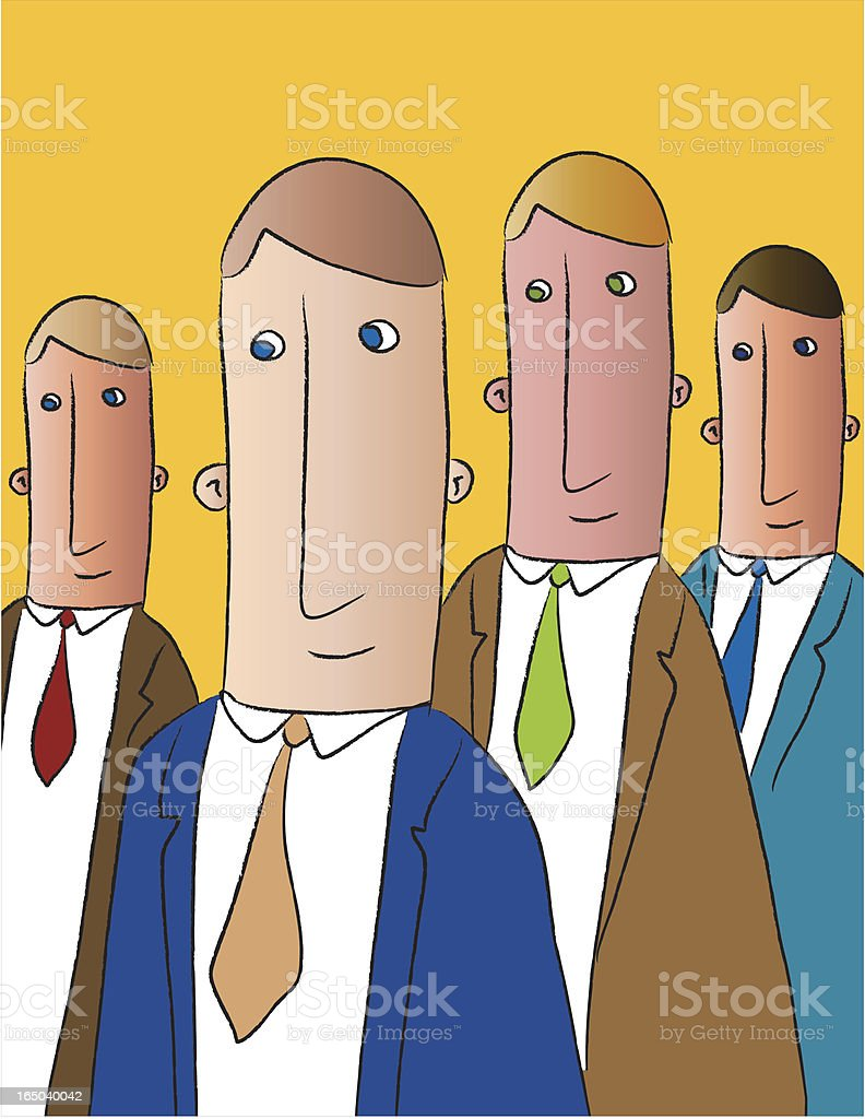 businessteam royalty-free stock vector art