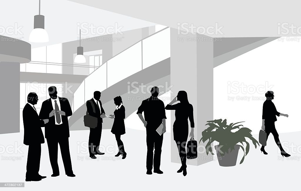 BusinessTravel vector art illustration