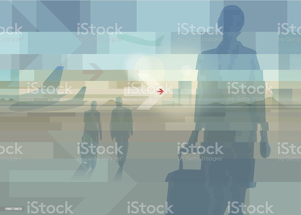 businesstrip vector art illustration