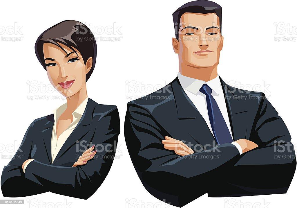 businesswoman businessman royalty-free stock vector art