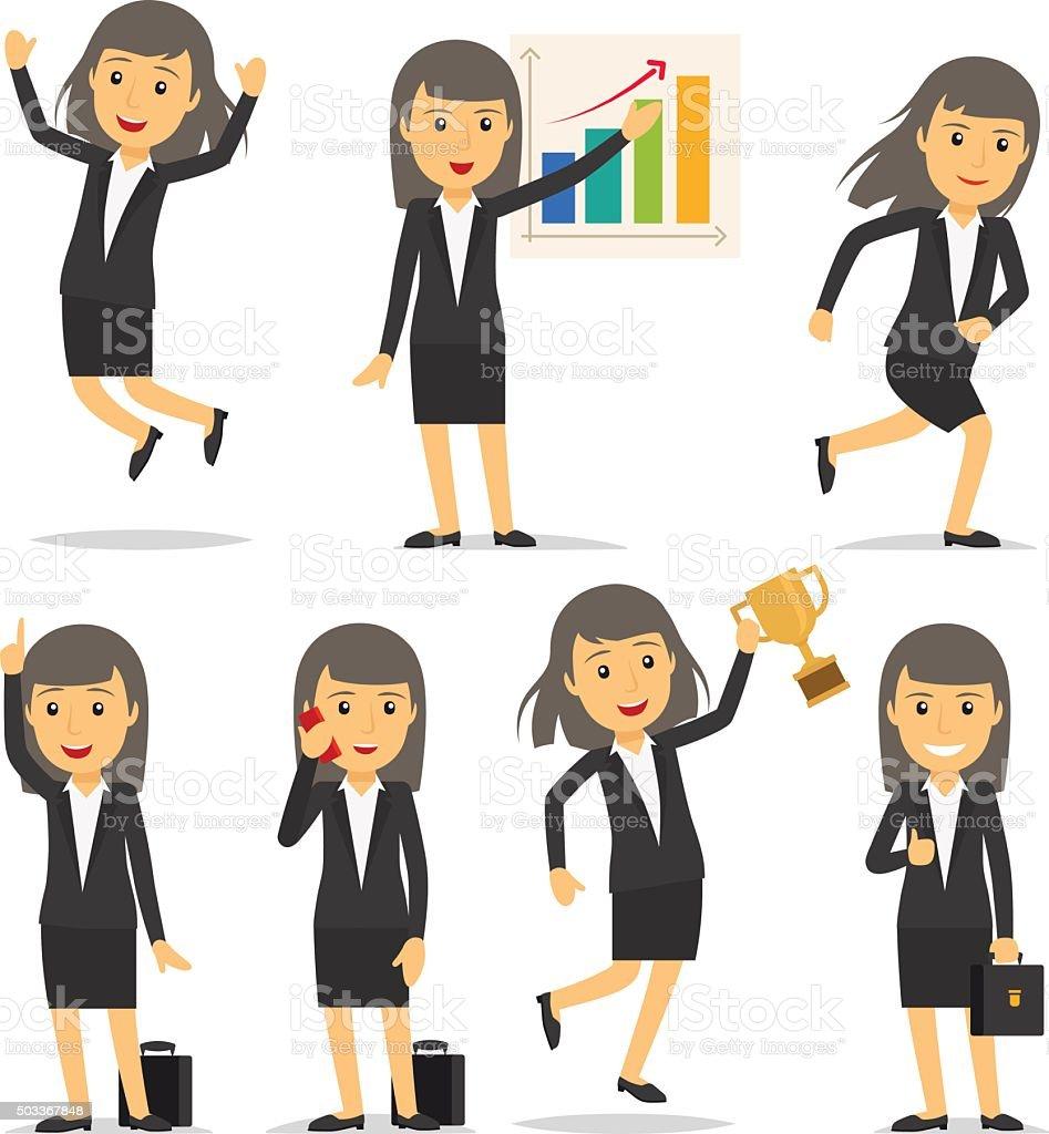 Businesswoman character vector vector art illustration