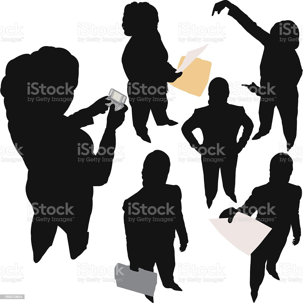 Businesswoman From Above Series royalty-free stock vector art
