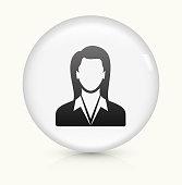 Businesswoman icon on white round vector button