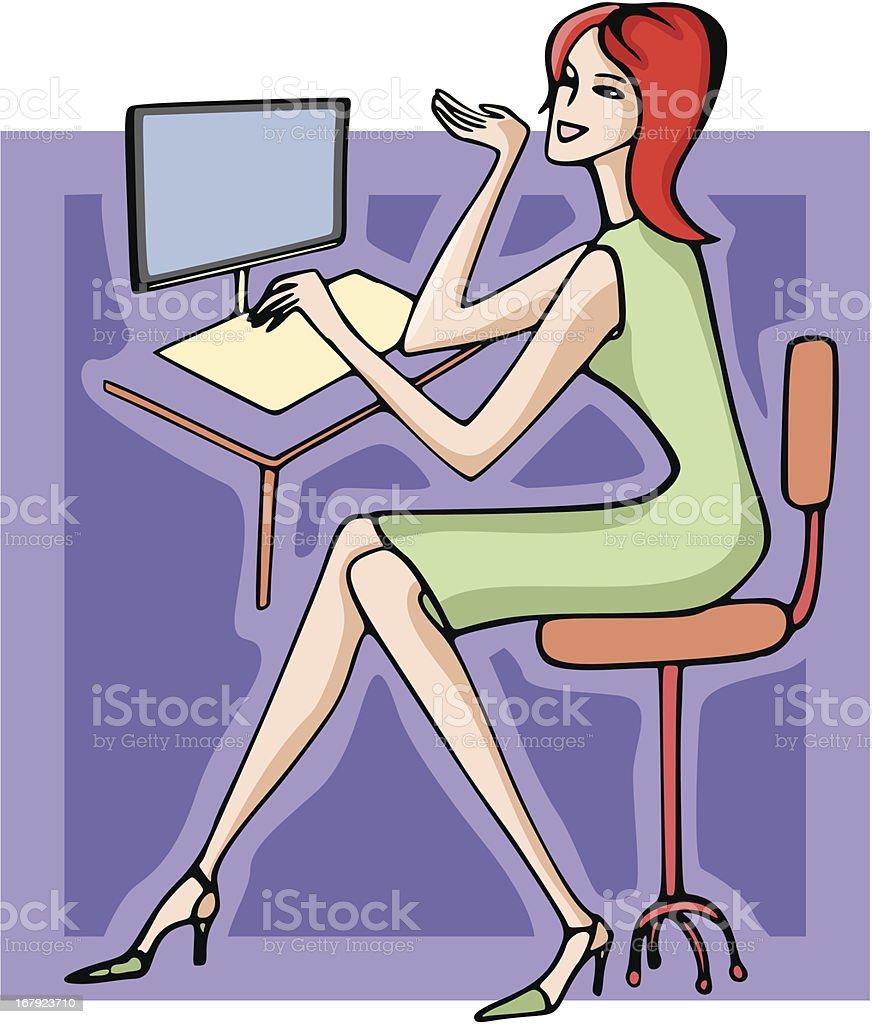 Businesswoman Illustration LX (Vector) royalty-free stock vector art