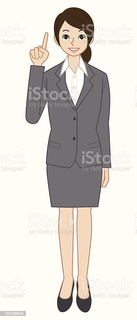 Businesswoman pointing royalty-free stock vector art