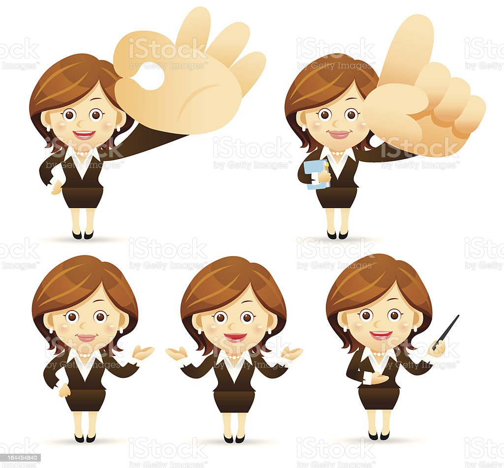 Businesswoman Set royalty-free stock vector art