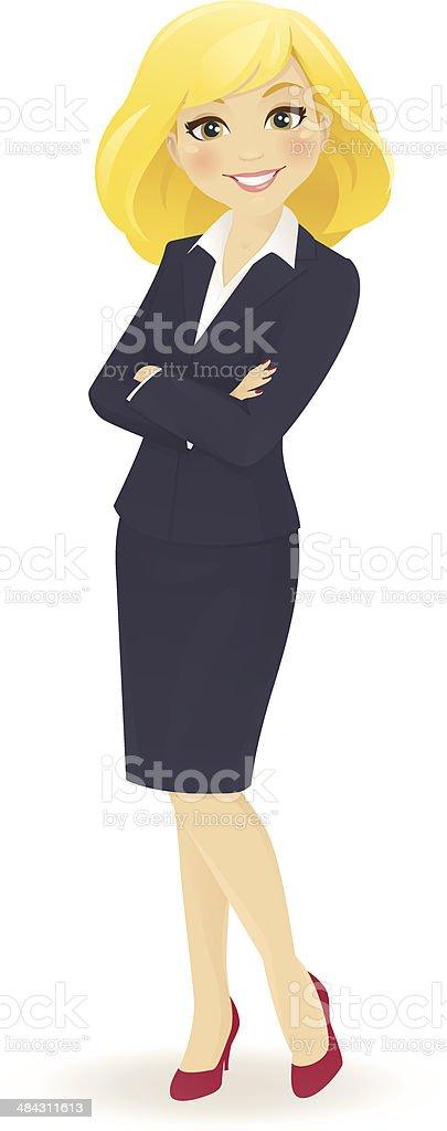 Businesswoman standing royalty-free stock vector art