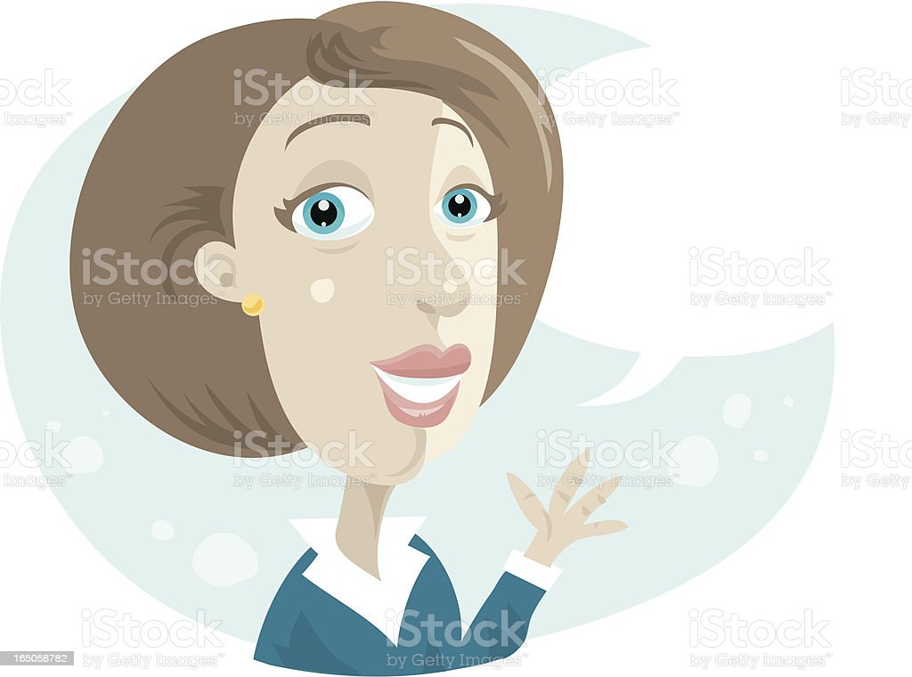Businesswoman Talking royalty-free stock vector art