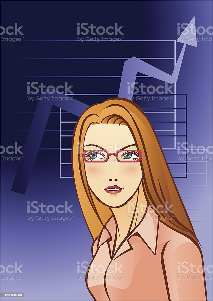 Businesswoman royalty-free stock vector art