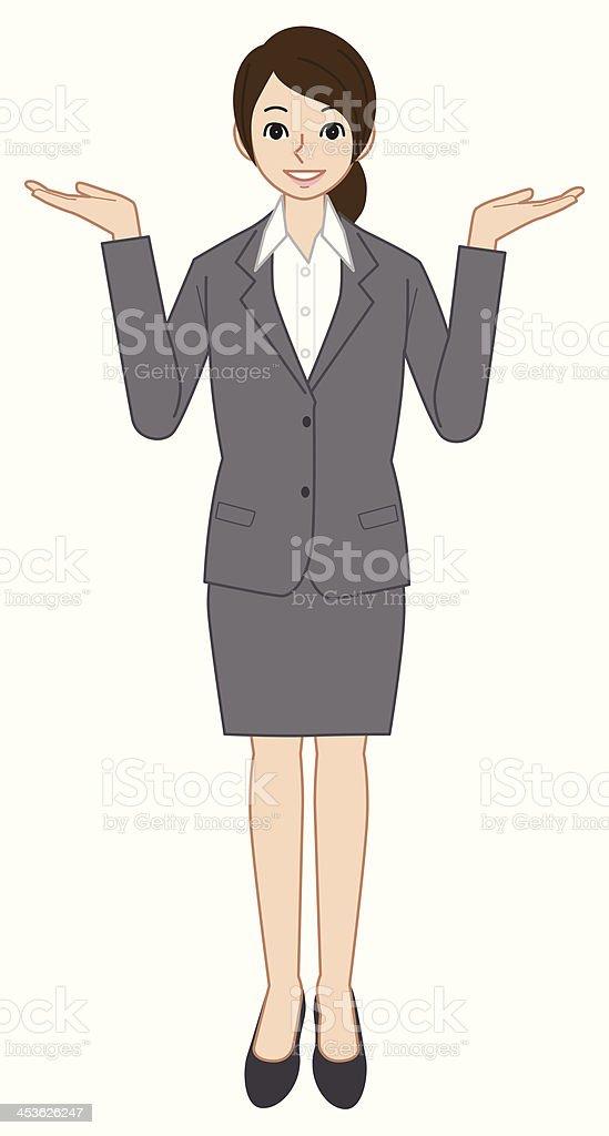Businesswoman vector art illustration