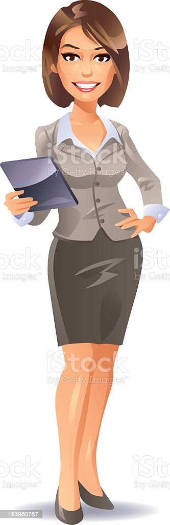 Businesswoman royalty-free stock vector art