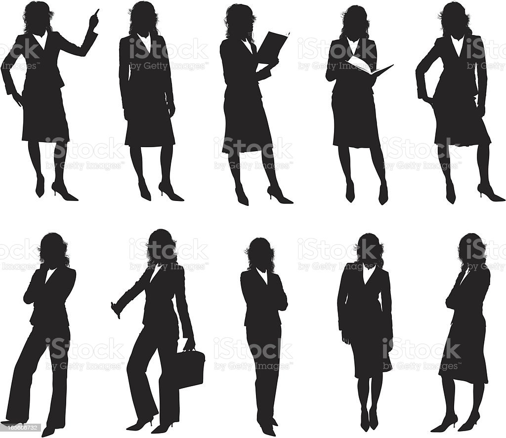 Businesswomen for your design vector art illustration