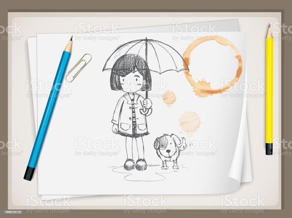 Busniessman cartoon royalty-free stock vector art