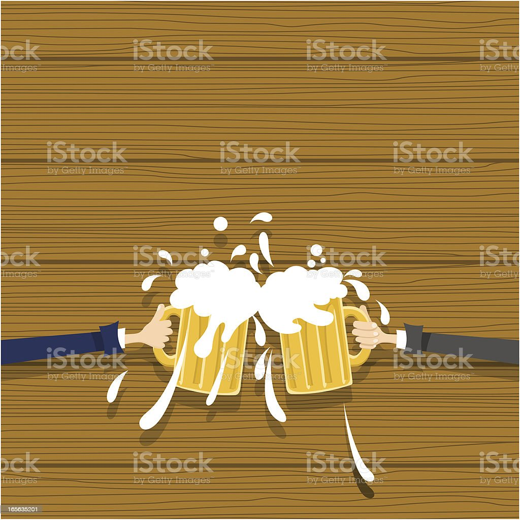 Bussinesmen toasting royalty-free stock vector art