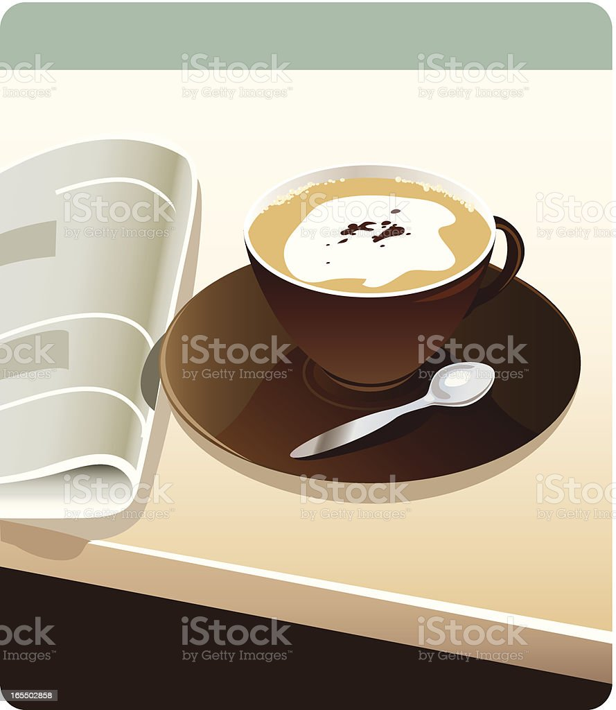 bussiness breakfast royalty-free stock vector art
