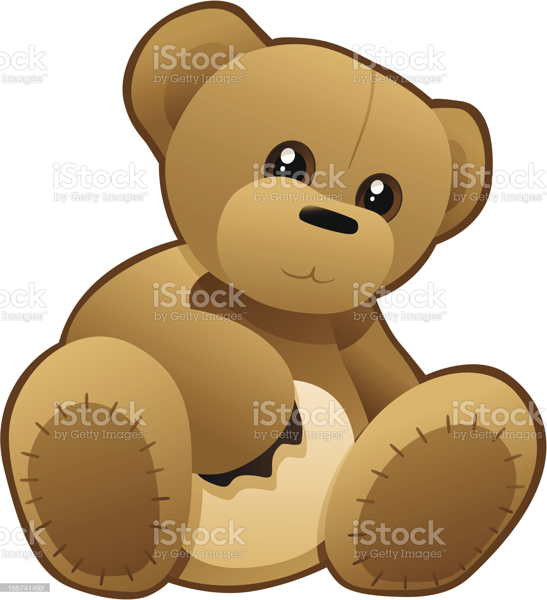 Buster The Bear royalty-free stock vector art