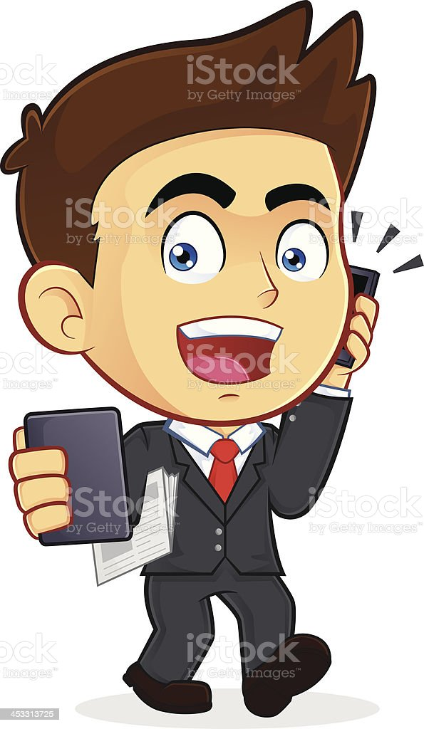 Busy Businessman royalty-free stock vector art