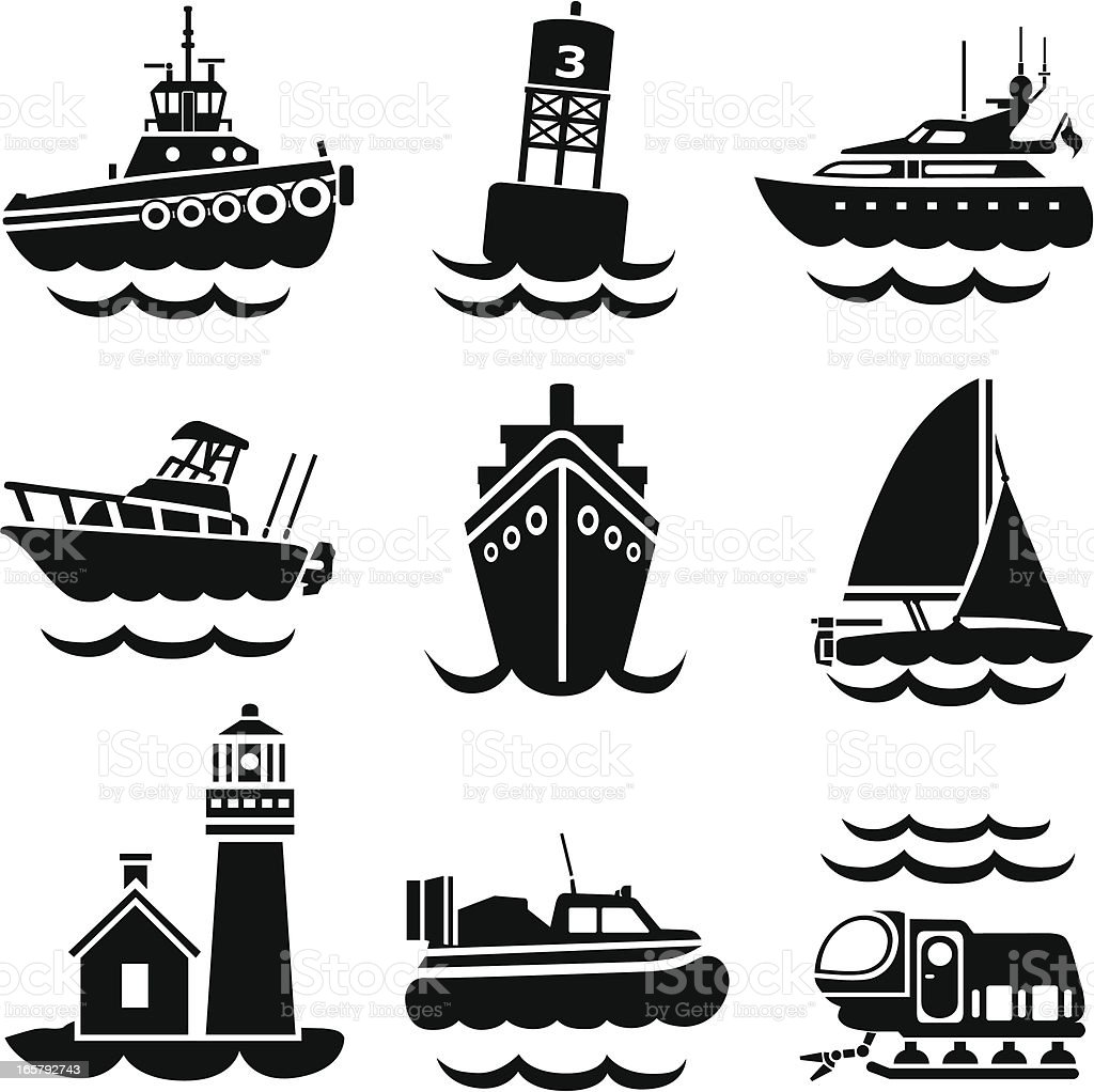 busy harbor royalty-free stock vector art