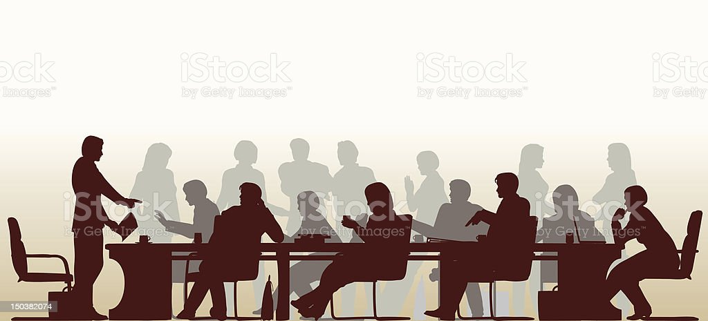 Busy meeting royalty-free stock vector art